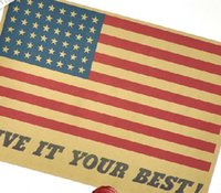 best it world - new cheap retro vintage poster World War II Posters American Flag give it your best for kids rooms