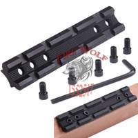 Wholesale 2016 New Picatinny mm Dovetail to Weaver Rail Mount Base Adapter mm Scope Mount Converter For Rifle Flashlight Laser Sight