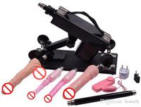 Jouets sexuels Prix-Automatique Sex Machine Gun avec de nombreux accessoires Dildo Robot Intercourse sexuelle Enfoncer machine 6cm escamotables Femme Masturbateur Sex Toys