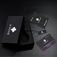 Wholesale Fashion Balck Square WWOOR Watch Gift Box Hard Card Material It will be sent with WWOOR watch not be sold separately