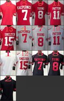 Wholesale Women NIK Game Football Stitched ers Blank Colin Kaepernick Young Patton Smelter White Red Black Jerseys Mix Order