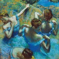 ballet dancers posters - figurative art posters canvas painting mural prints poster art Edgar Degas Classe de Ballet ballet dancers in blue
