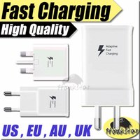 Wholesale EP TA20HWE Samsung Original US EU AU UK Adaptive Fast Quick Charging Wall chargers Travel Adapter For Galaxy S6 S7 Edge Plus Note