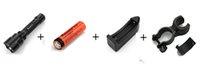 Para encajar a presión el precio de coste 10Set UltraFire E17 táctil Cree XM-L T6 Lumen 2000 XML Luz LED Zoomable Vida impermeable Linterna + batería + cargador
