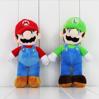 Unisex best tv stand - Super Mario Stand LUIGI Mario Plush Soft stuffed doll for kid Best gift inch EMS