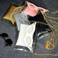 arrival eye bags - New Arrival Summer Transaparent Envelope Shoulder Bag Creative Eye Mask Women Messenger Bags Chain Satchel Handbags ZB0612 salebags