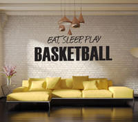 basketball decals - eat sleep play basketball wall stickers boy s room wallpapers wall decals removable novelty quot wallpaper for kids rooms