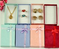 Wholesale New Arrival Cheap Assorted Colors Jewelry Sets Display Box Necklace Earrings Ring Box Packaging Gift Box