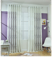Wholesale FEDEX OR UPS Lace Curtains Modern European Style Decorative Lace Coffee Volie Tulle Window Sheer Curtain for Bedroom