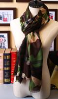 Comprobar bufanda de cachemir de seda Baratos-2016 Moda Mujer Mega Verde Cheque Seda / Bufanda De Cachemira De Madera Bufanda De Madera COMPRAR CASHMERE FINE MERINO LANA SHAWL SCARF Nueva caja de regalo