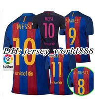 barcelona jersey soccer - Top Thai Barcelona home jersey soccer MESSI ARDA A INIESTA SUAREZ SERGIO PIQUE I RAKITIC NEYMAR JR Spain away football shirt
