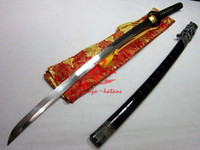 Wholesale Clay Tempered T Blade Katana Iron Cherry Blossom Tsuba Battle Ready Sharpened Sword