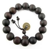 achat en gros de perles poignet de prière-Bouddhiste tibétain Décor perles de prière Bracelet Bangle Wrist Ornement Bois Bouddha Perles Femmes Hommes Bijoux Religion Charm Livraison gratuite