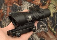 Wholesale Tactical Trijicon acog style x32 fiber red dot Rifle scope With Markings Red Optical Fiber hunting M1390