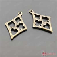 antique card games - MM Antique Bronze Plated Zinc Alloy Card Games Symbol Charms Diy Jewelry Findings Accessories