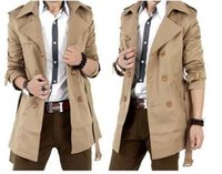 Wholesale or retail Winter Long Trench Coat Men Cloak Cape Famous Luxury Brand Mens British Style Casual Slim Khaki Double Windbreaker