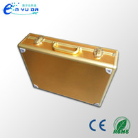 Wholesale Golden suitcase New product Custom empty box You can also customize the EVA model Custom sizes Aluminum case