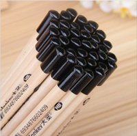 Wholesale Standard Pencil HB Black Triangle Sketch Drawing Pens Supplies Natural Wood Pencils Barrel Packing School Stationary Christmas Gift