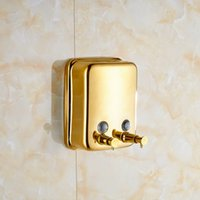 Wholesale Wall Mounted Bathroom ml Double Soap Dispenser Wall Mounted Gold Polished