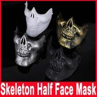 adult human skull - Skull Jaw Plastic Human Skull Skeleton Mask Horror Half Face Shied Terror Mask for Halloween Party