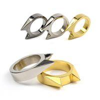 african ear rings - 3pcs Ourdoor Self defense Tools Women Anti wolf Ring Cat Ears Ring Broken Windows Tools Men Hiking EDC Tools