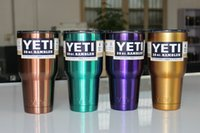 beer deliveries - MOQ YETI A variety of colors oz Snowman snowman saunterer stainless steel cup of beer free delivery truck can choose style
