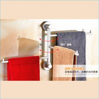 Wholesale modern bathroom Space aluminum towel bars activities rotating bars towel rack bath towel rod J15496