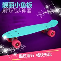 banana board wheels - Supper loading Freestyle Fashion Inches Four wheel Street Long Skate Board Mini Cruiser Skateboard Fish Banana Long Board