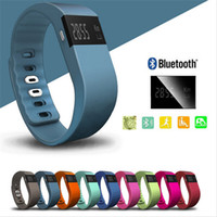 Wholesale DHL TW64 smart wristbands OLED bluetooth smart multifunctional bracelet sports colorful pedometer calls reminder for ios Android cellphone