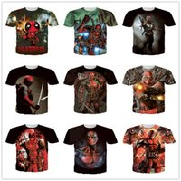 badass t shirts - 2016 styles American Comic Badass Deadpool T Shirt t shirts for men women Characters d t shirts Funny Casual tops BY DHL