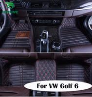 Wholesale Top Quality D Car Floor Mat For Volkswagen Golf Foot Mat Car Foot Pad Colors Left Hand Driver Drop Shipping KF A2135
