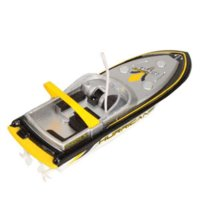 Wholesale Scolour Yellow Radio Remote Control Super Mini Speed Boat Dual Motor Kid Toy Freeshipping boat candy