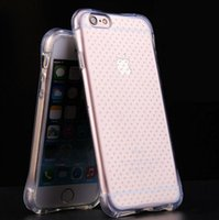 airbag safety - 200pcs New for Iphone6 Plus airbag Shatterproof transparent Clear Case Back Cover safety protection screen