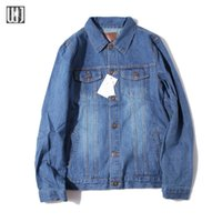 Wholesale Fall Vintage Fall Spring Bomber Jacket Mens Designer Clothes Lover s Denim Jacket Plus Size XXL Casual Jeans Jackets And Coats