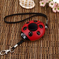Wholesale 130db Ladybug personal safty alarm with Mini LED flash use in keychain wireless emergency alarm for elder and kid