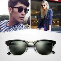 al por mayor sunglases para las mujeres-Diseñador Hot Brand Gafas de sol Gafas de sol hombre Maestro Mujeres lente de cristal semi sin rebordes retro gafas de sol Gafas de sol Sunglas 51mm