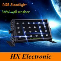 Wholesale Brightness W LED RGB Floodlight LED DMX Stage Lighting Outdoor Floodlights led Wall Washer light background Lamp flood Lights
