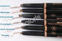 Wholesale Makeup Eyebrow Automatic Pen Brow Definer Triangular Brow Pencil Crayon A Sourcils Triangulaire Have Colors