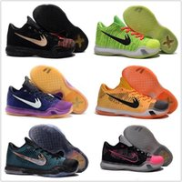 Wholesale Original Children Kids New Cheap Basketball Shoes Men Kobe X Elite Original KB10 Discount Weaving Sports Shoes Size