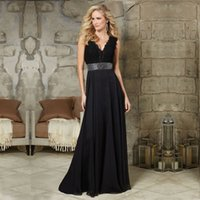 beaded tunics - Real Picture Champagne Pink Black V neck Tunic Lace Long Evening Dress Chiffon Evening Gown Mother Of The Bride Dress