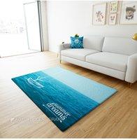 Wholesale Summer Dreams Sea blue ground mat for living room big size foot mat for door geometric carpet cm cm