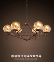 america energy - 2016 new design vintage industrial LED glass pendant America style restaurant clothing coffee decoration Iron DNA modo magic pendant light