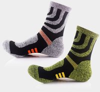 Wholesale Men Autumn Winter Cotton Socks Sports Leisure mid calf length sock for Outdoor Climbing Hiking Mix Color