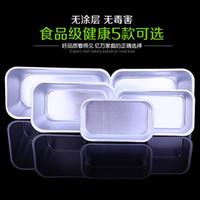 aluminium baking tins - Baking Mold Aluminium Rectangle Cake Tin Bake Oven Bakery Case Mould Cake Decorating Tools Size For Choose