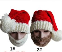 ball cap manufacturers - NEW high quality Manufacturers selling Christmas hat beard knitted cap by hand Qiu dong the ball cap foreign trade