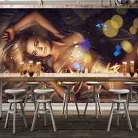 backdrop designer - Sexy beauty D Wallpaper Modern Wall Mural Custom Photo Wallpaper Boys Bedroom Club Pub Hotel TV Backdrop Body Wallpaper Designer Room Decor