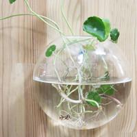 Wholesale 2pcs cm Transparent Crystal Glass plant flower vase glass terrarium garden decoration wedding decoration