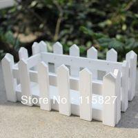 Wholesale White Color Wooden Fence Artificial Flower Pot Wooden Vase Flower Holder Home or garden Decoration cm