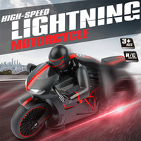 Wholesale RC Motorcycle G high speed motorcycle Inclining Degree Flash Light Red Green Color Remote Control Motorbike