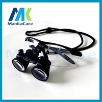Cheap 2.5X time Dental Surgical Binocular Loupes Magnifier Glasses 100% original surgical optical glass Black color Shipping Free